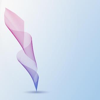 많은 컬러 라인의 추상 파도입니다. 밝은 파란색 배경에 물결 모양의 줄무늬입니다. 벡터 일러스트 레이 션 eps10입니다. 창의적인 라인 아트. 블렌드 도구를 사용하여 만든 디자인 요소. 펜, 깃털의 개념입니다.