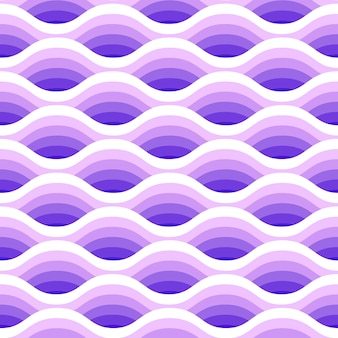 Abstract waves seamless pattern in purple colors.