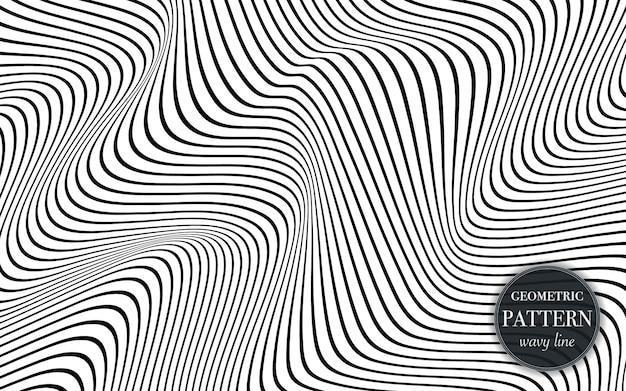 Абстрактный размахивая линии шаблон фона.