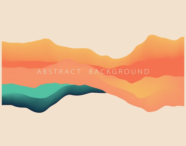 Abstract wavy background with modern gradient color vector illustration material for different la
