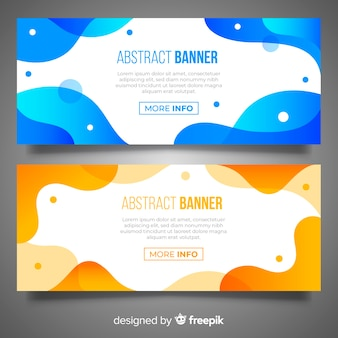 Abstract wavy banner collection