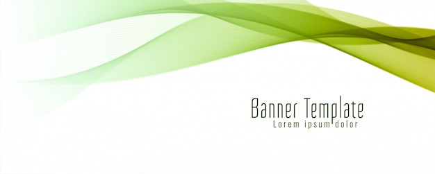Abstract wavy banner stylish template