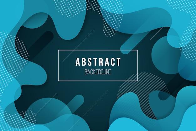 Abstract wavy blue wallpaper