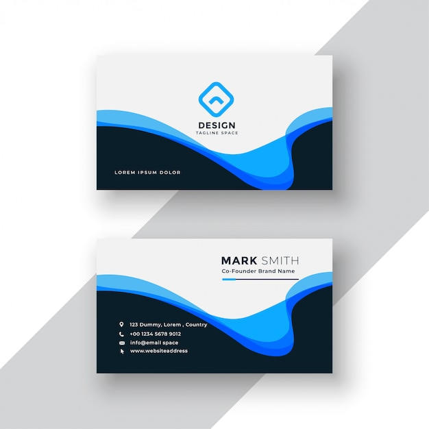 Free Abstract wavy business card design SVG DXF EPS PNG