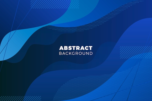 Abstract wavy classic blue background