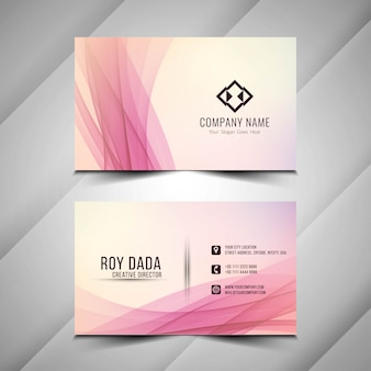 Abstract wavy elegant business card template