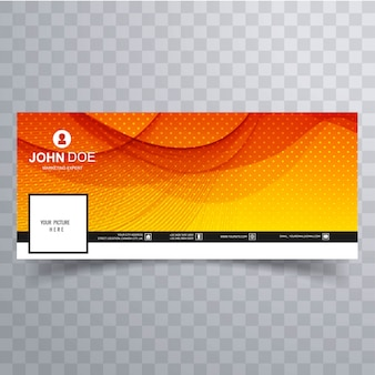 Abstract wavy facebook timeline banner template