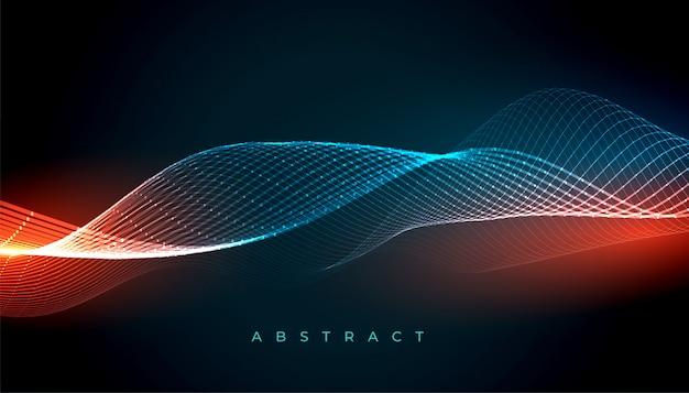 Абстрактные волнистые светящиеся линии фон с прекрасными цветами