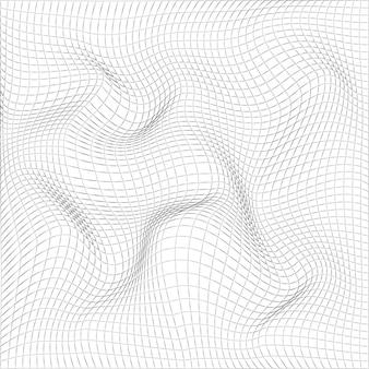 Абстрактная волнистая серая сетка.
