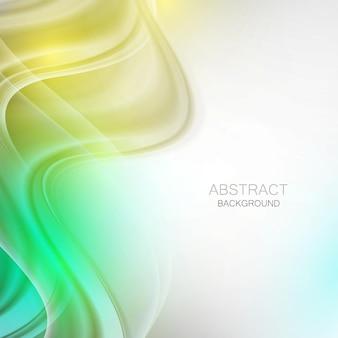 抽象的な波状。緑と黄色の波状の形。 Premiumベクター