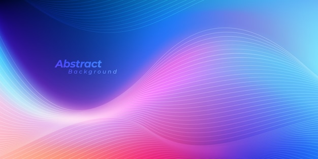 Abstract wavy lines background. Premium Vector