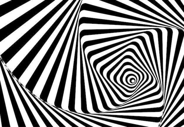 Абстрактные волнистые линии оптическая иллюзия. геометрический дизайн фона. иллюстрация
