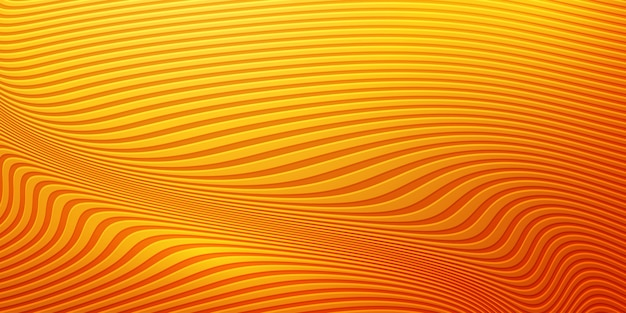 초록 물결 모양의 오렌지 배경입니다.
