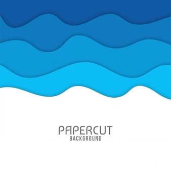 Abstract wavy paper cut background