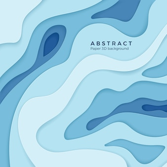 Абстрактный волнистый бумажный диффузный элемент уровня для баннера, плаката и брошюры. 3d-украшение papercut с изогнутыми слоями. задний план