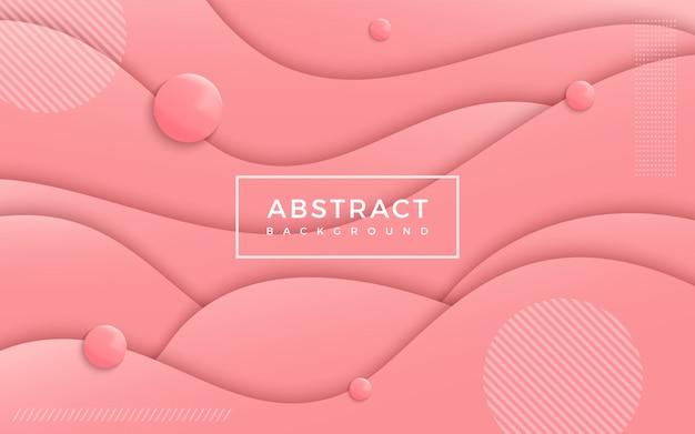 Абстрактный волнистый розовый фон.