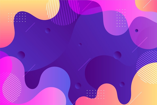 Abstract wavy shapes background