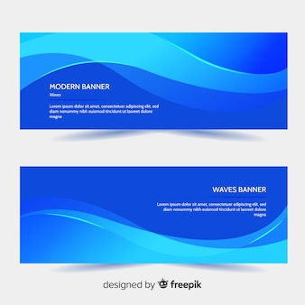Abstract wavy shapes banner