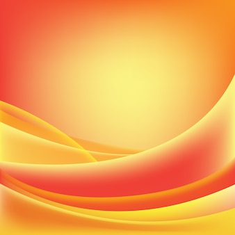 Abstract wavy shiny, sunny, red and orange background