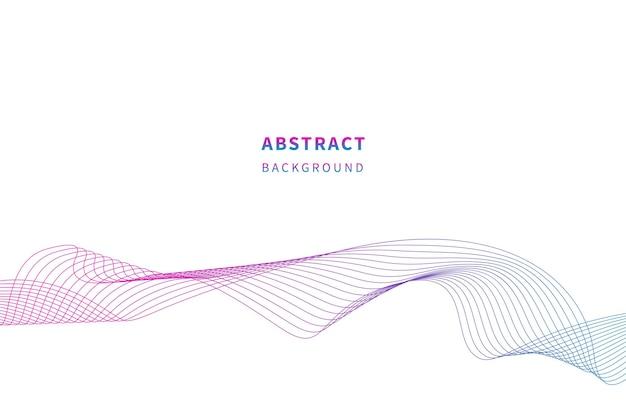 抽象的な波状のストライプカラフルな波線は白い背景を分離しました多くの色の線の波
