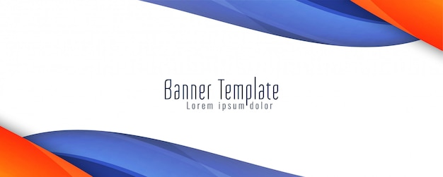 Abstract wavy stylish banner  template