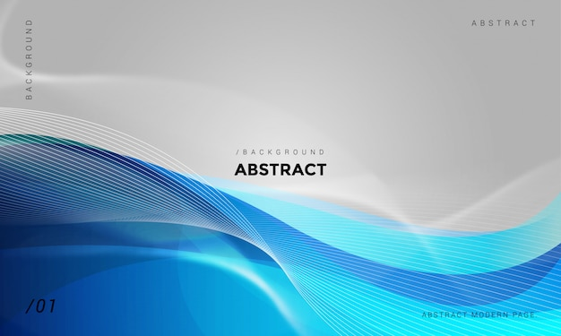 Abstract wavy technology background