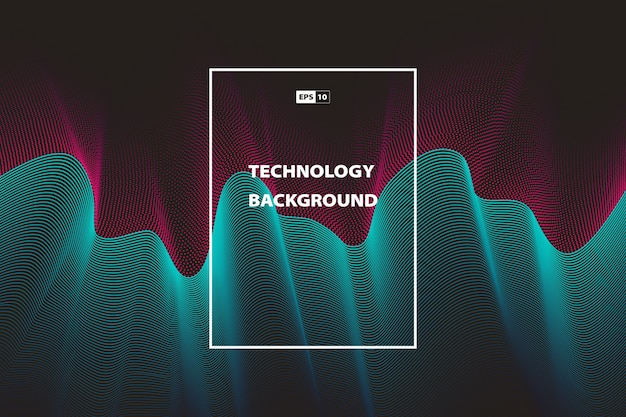 Abstract wavy technology color background