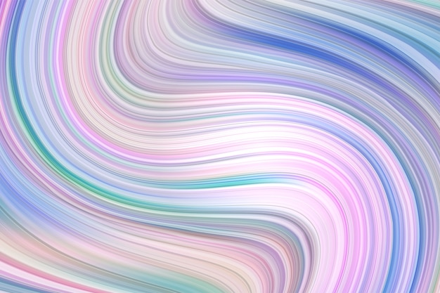 Abstract wavy twisted shape trendy design element