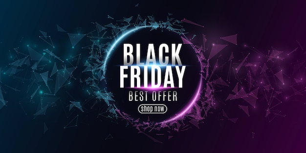 Abstract web banner for black friday sale.