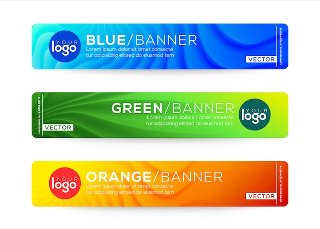 Abstract web banner or header design templates.