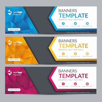 Abstract web banner template design background