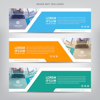 Abstract web banner template