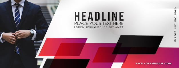 Abstract web business banner template