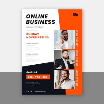 Abstract webinar flyers template