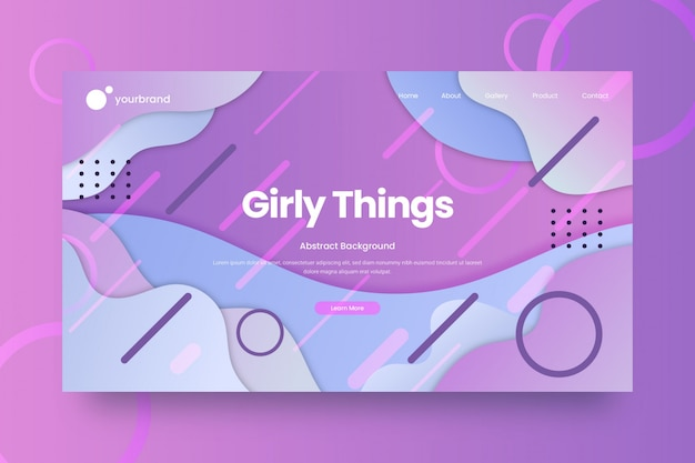 抽象的なウェブサイトのデザインまたはランディングページテンプレート