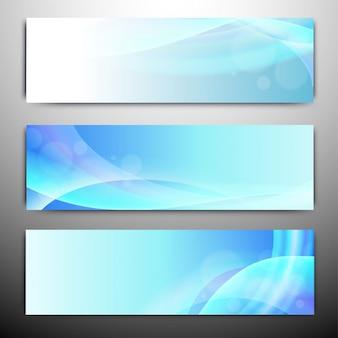 Abstract website headers or banners set. Premium Vector