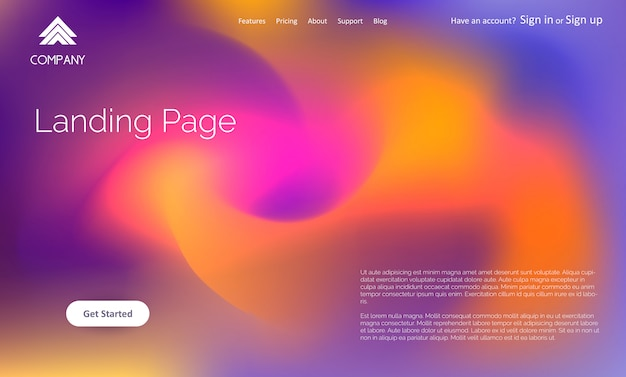 Abstract website landing page template design