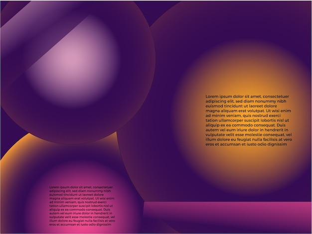 抽象的なウェブサイトのランディングページベクトル図