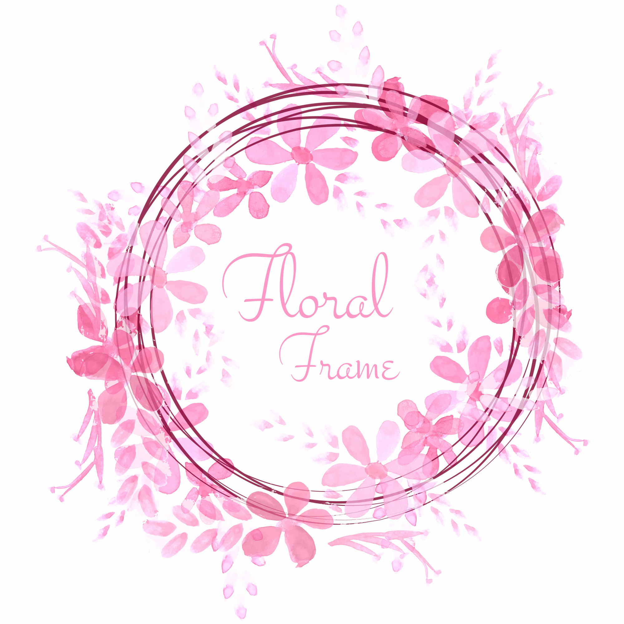 Abstract wedding floral frame background