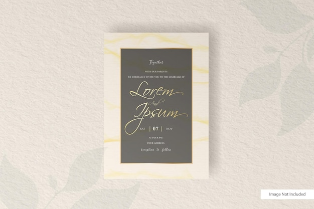 Abstract wedding invitation card template with elegant watercolor   decoration