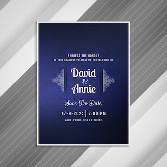 Abstract wedding invitation card template