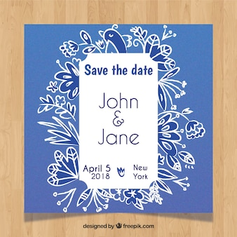Abstract wedding invitation with modern style