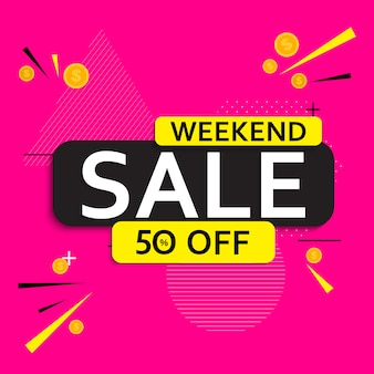 Abstract weekend sale poster.