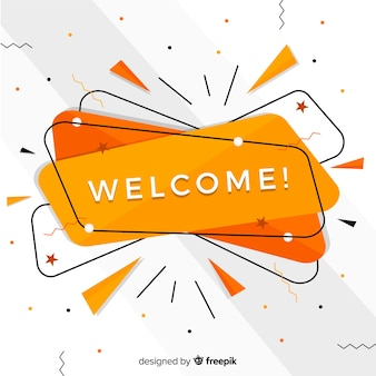 Abstract welcome composition with flat design