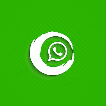 Abstract whatsapp icon