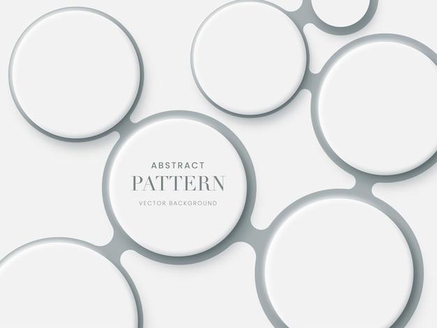 抽象的な白い3dサークルパターンの背景。