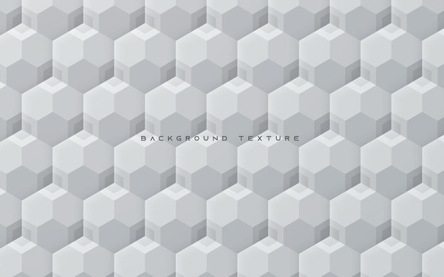 Abstract white 3d hexagon texture background