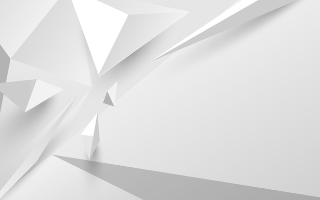 Abstract white 3d polygonal background. vector illustration