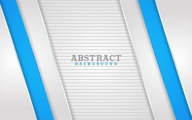 Абстрактные белые и синие линии сочетание фона дизайн