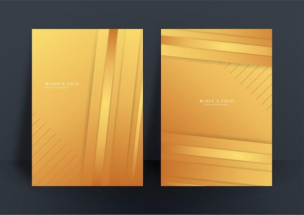 Абстрактная белая и золотая предпосылка шаблона дизайна крышки. золотой абстрактный узор формы в премиальном золотом цвете. роскошный золотой полосой векторный макет для бизнес-фона, сертификат, шаблон брошюры